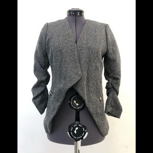 H&M Trendy Grey Blazer Jacket Excellent Condition